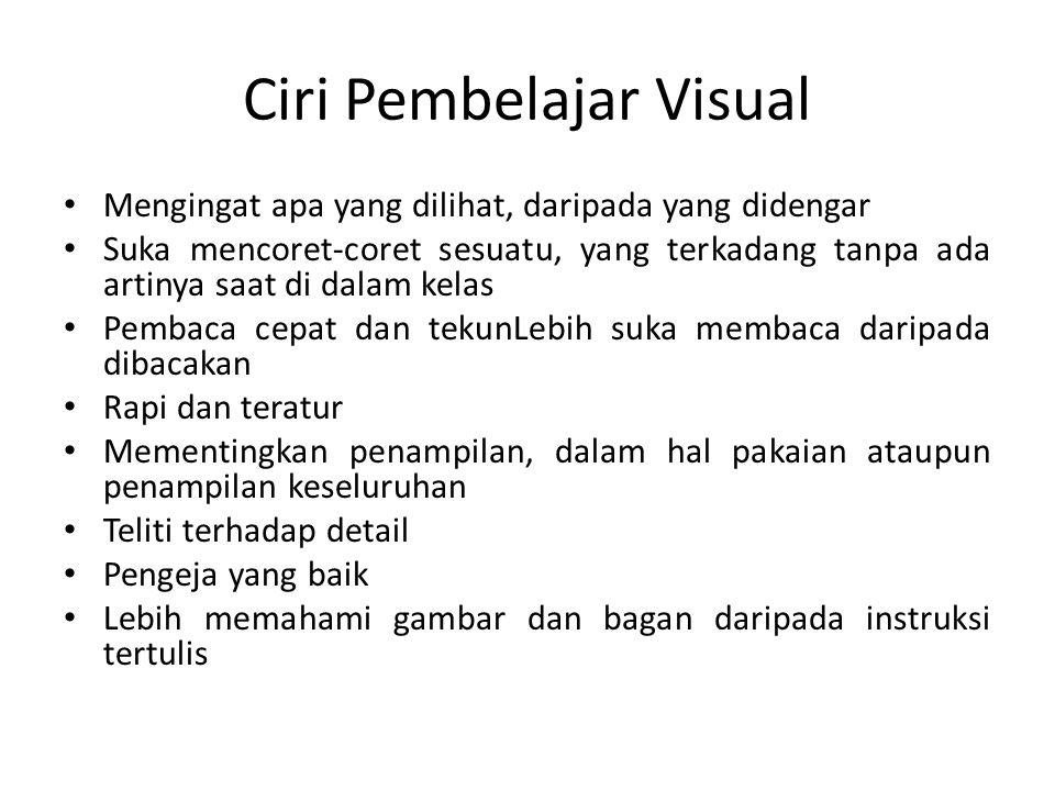 Ciri Pembelajar Visual