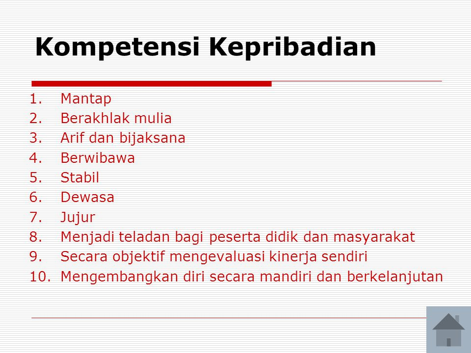 Kompetensi Kepribadian