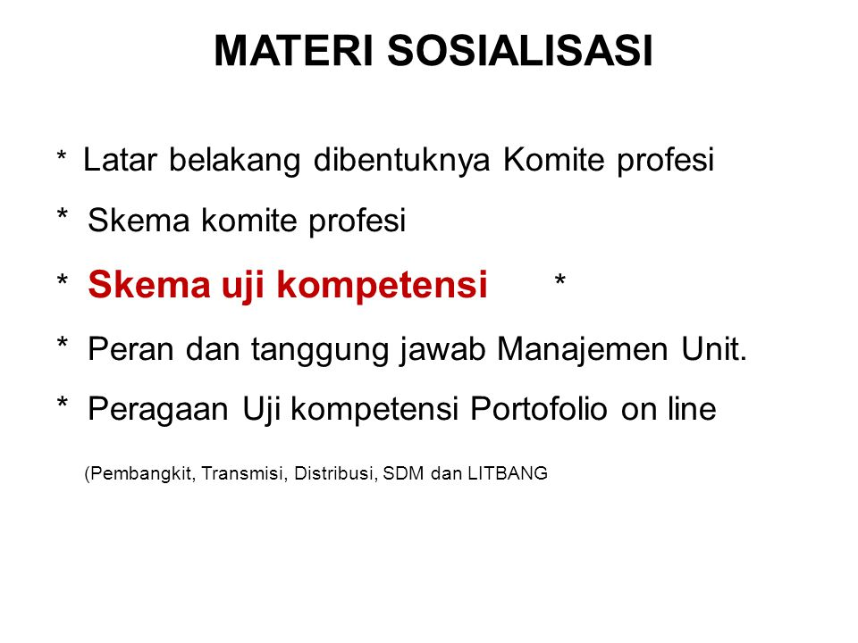 MATERI SOSIALISASI