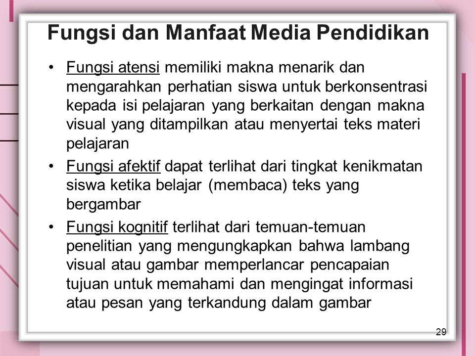Fungsi dan Manfaat Media Pendidikan