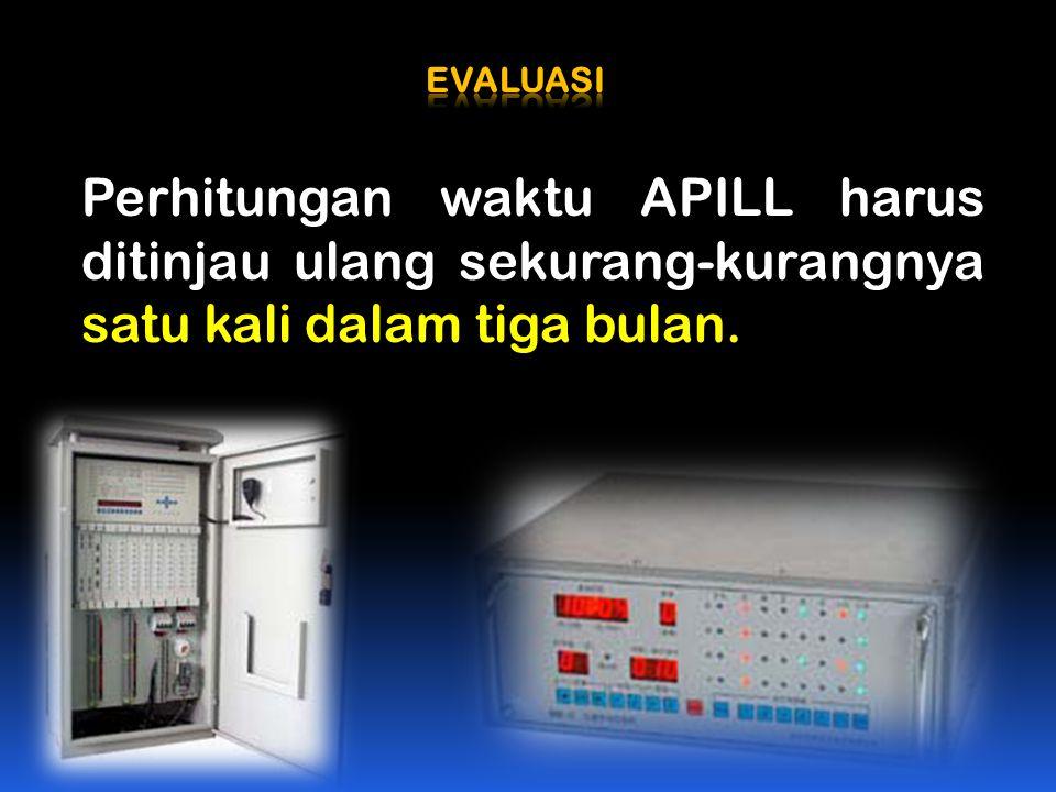 EVALUASI Perhitungan waktu APILL harus ditinjau ulang sekurang-kurangnya satu kali dalam tiga bulan.