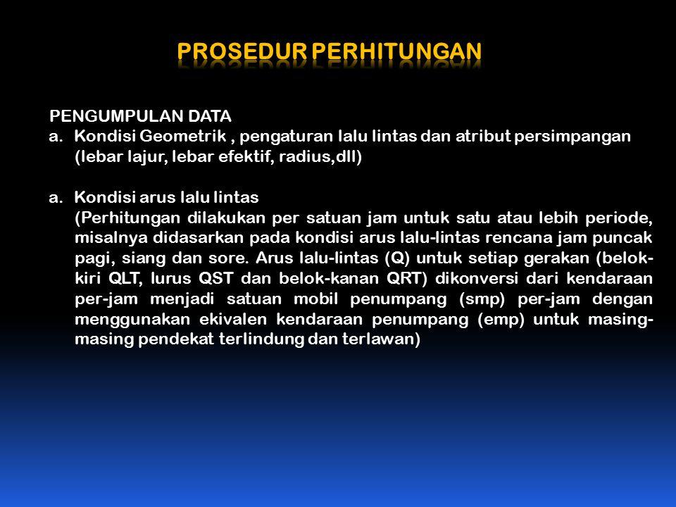 PROSEDUR PERHITUNGAN PENGUMPULAN DATA