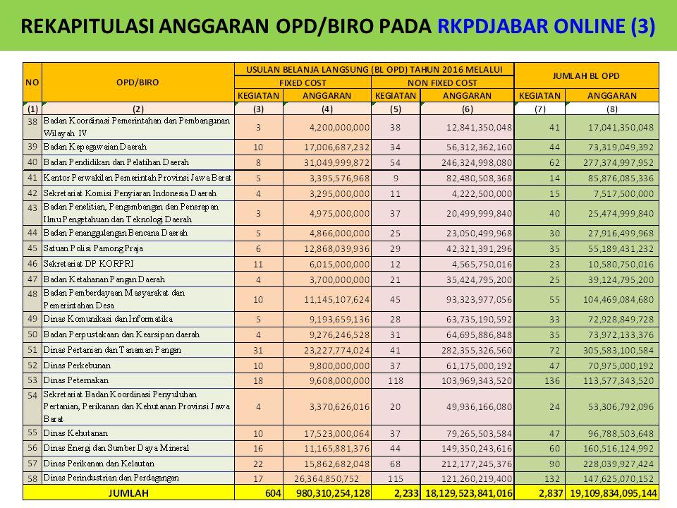 REKAPITULASI ANGGARAN OPD/BIRO PADA RKPDJABAR ONLINE (3)