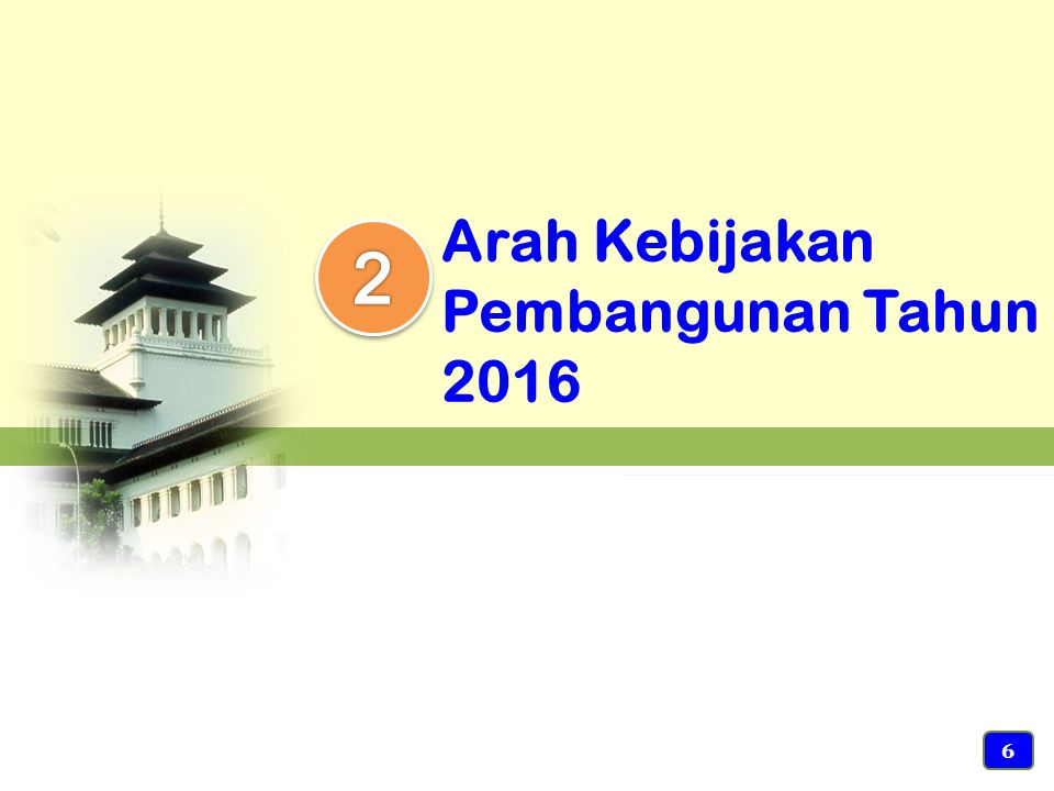Arah Kebijakan Pembangunan Tahun 2016