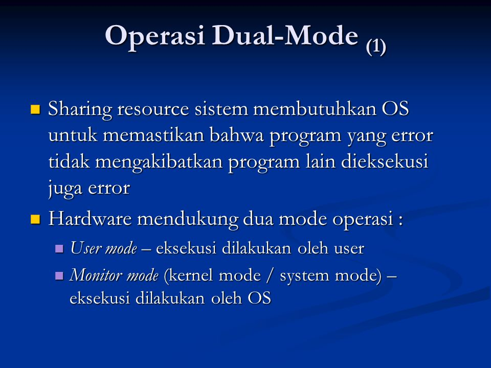 Operasi Dual-Mode (1)