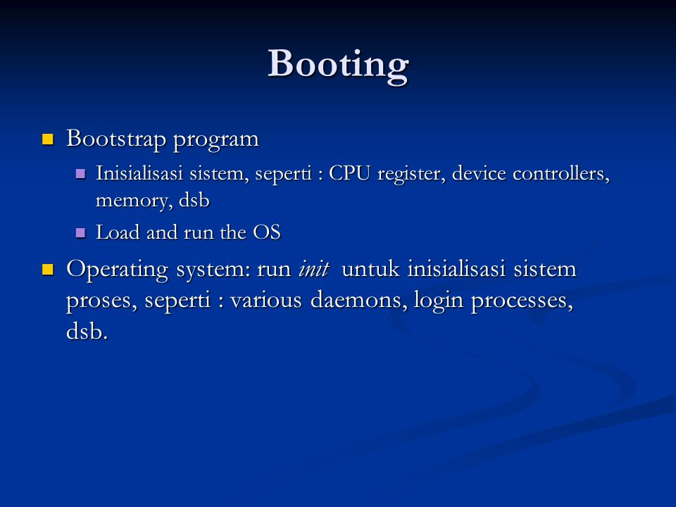Booting Bootstrap program