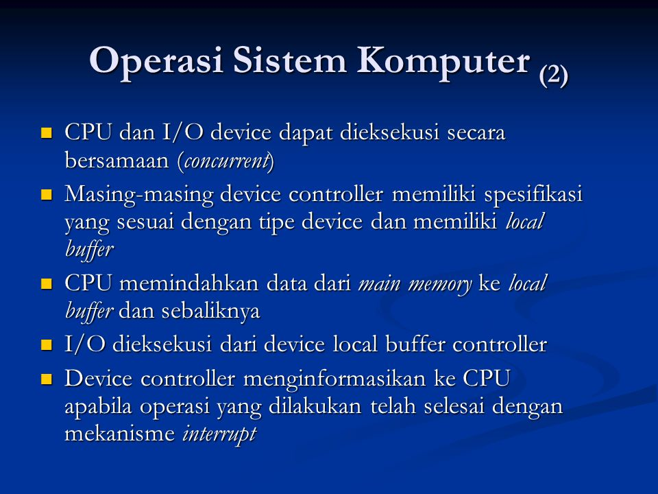 Operasi Sistem Komputer (2)