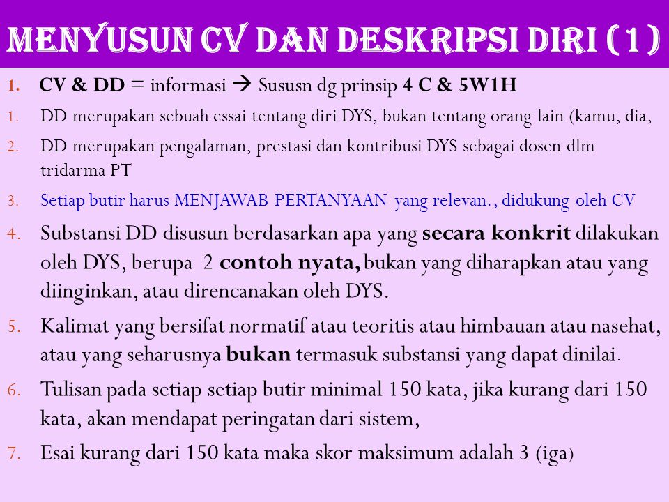 MENYUSUN CV DAN DESKRIPSI DIRI (1)