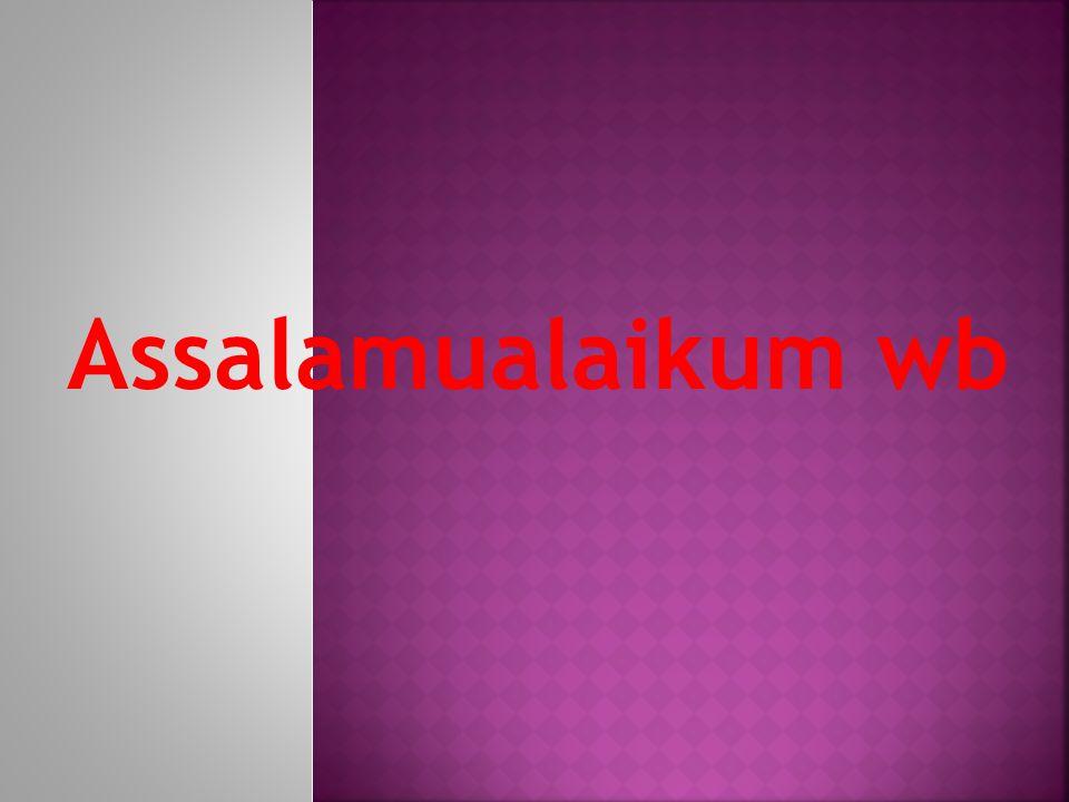 Assalamualaikum wb