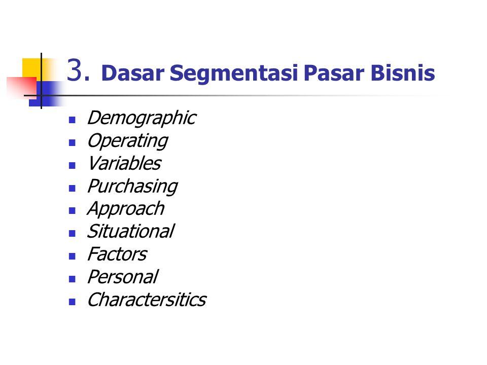 3. Dasar Segmentasi Pasar Bisnis