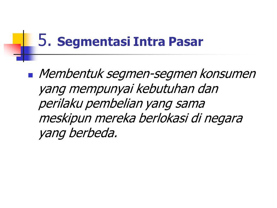5. Segmentasi Intra Pasar