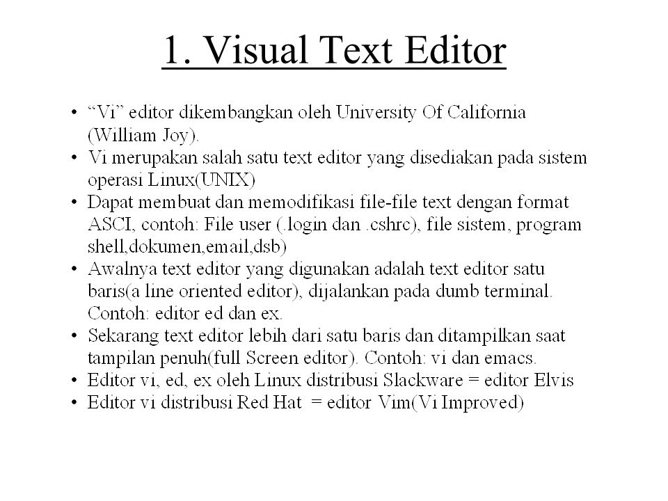 1. Visual Text Editor