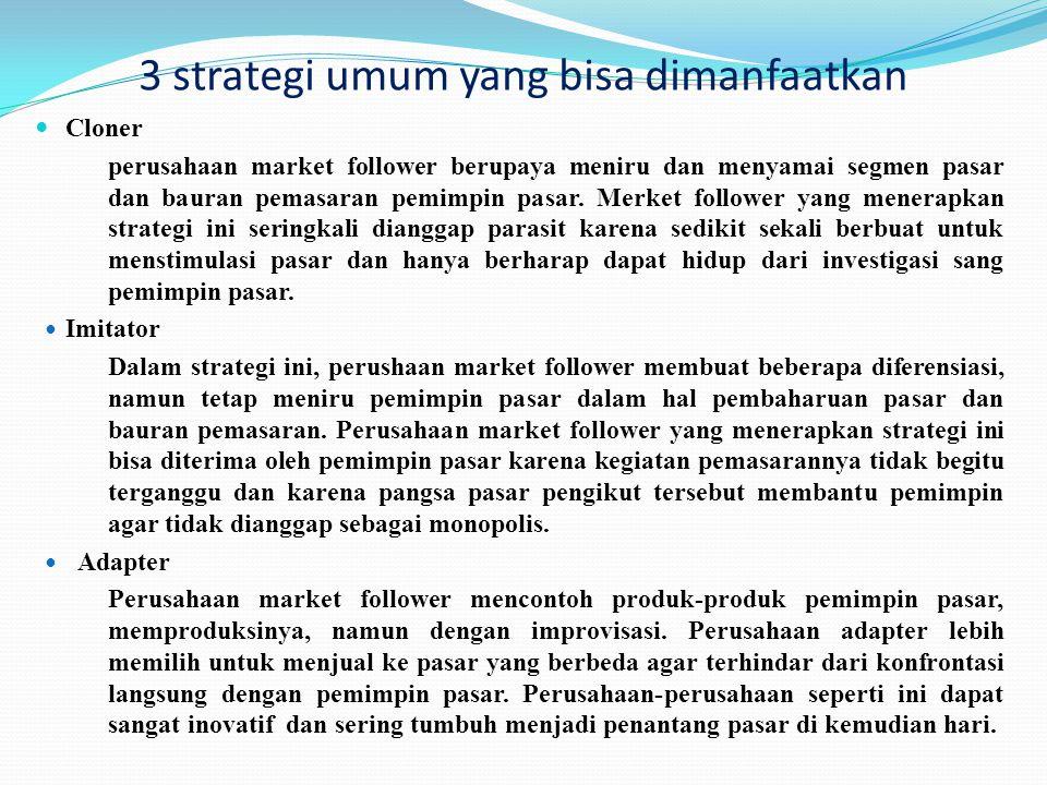 3 strategi umum yang bisa dimanfaatkan