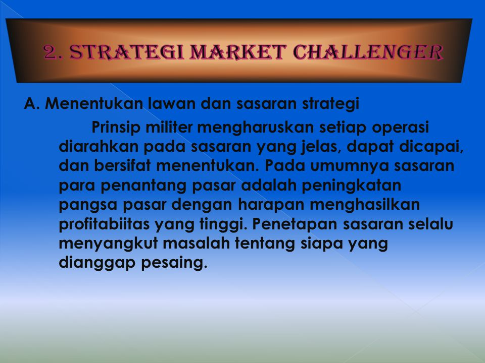 2. Strategi market challenger