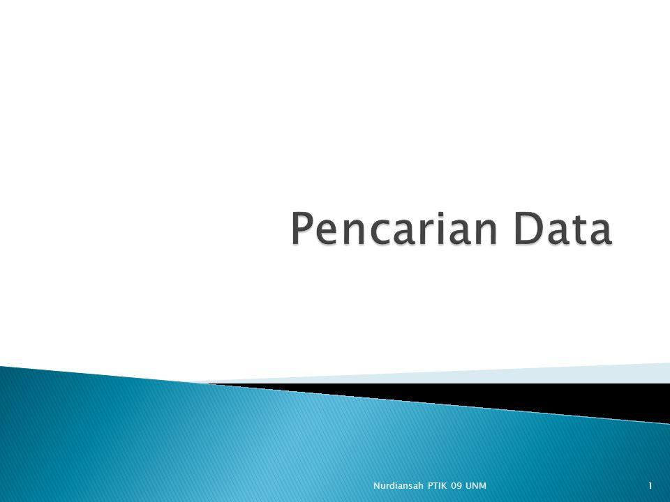 Pencarian Data Nurdiansah PTIK 09 UNM