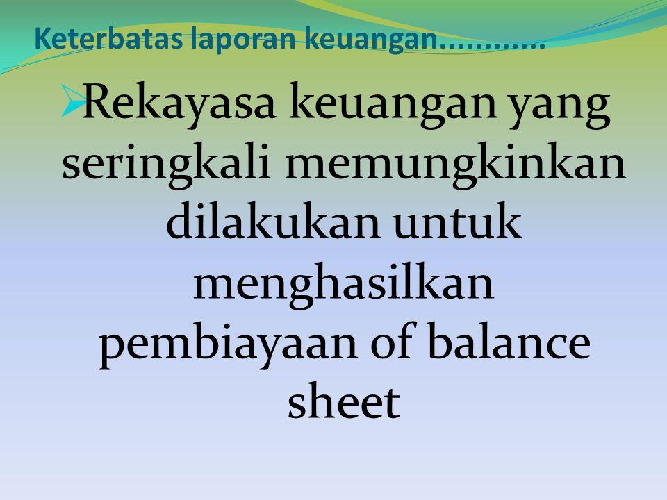 Keterbatas laporan keuangan............