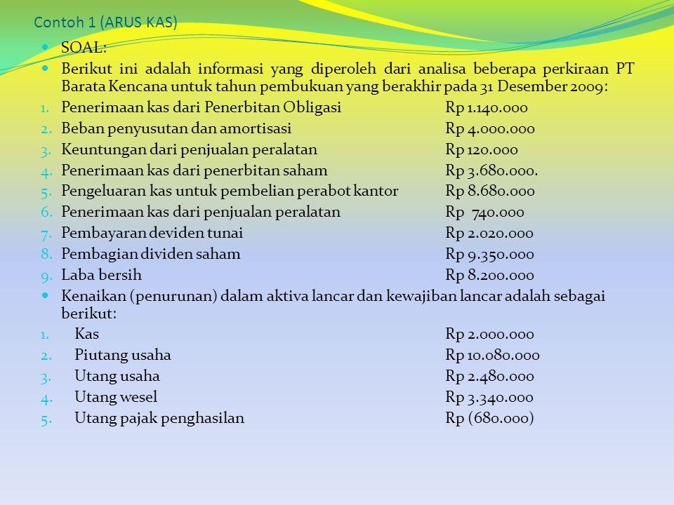 Contoh 1 (ARUS KAS) SOAL: