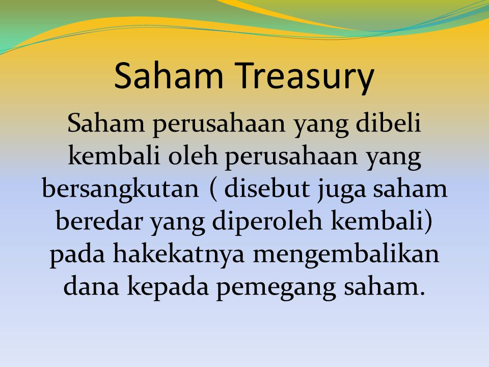 Saham Treasury