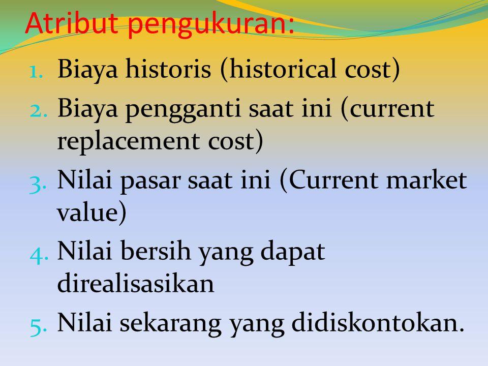 Atribut pengukuran: Biaya historis (historical cost)