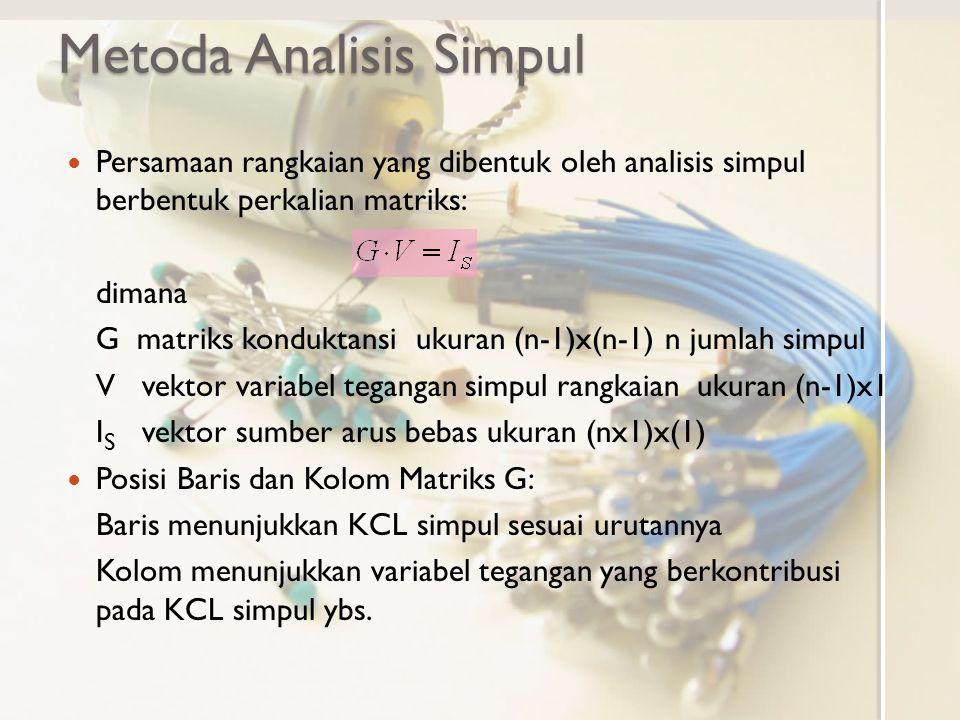 Metoda Analisis Simpul