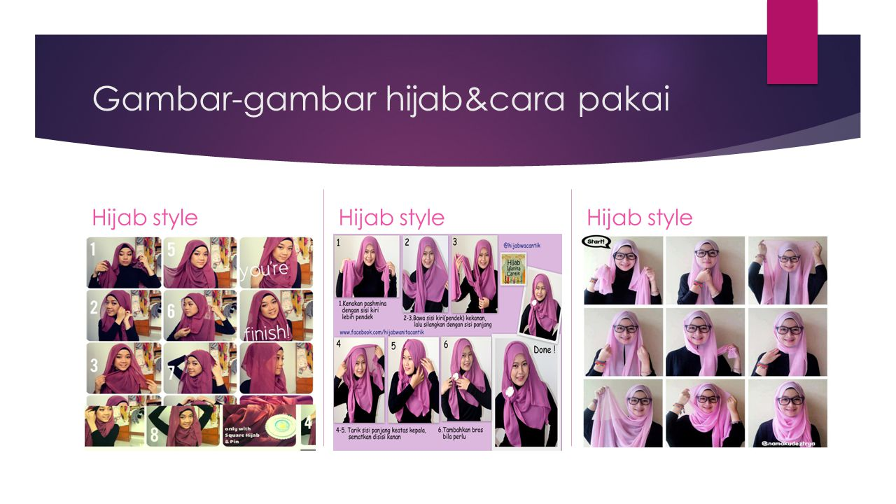 Gambar-gambar hijab&cara pakai