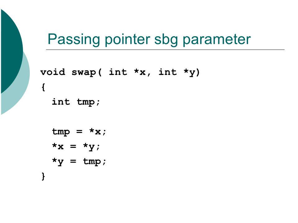Passing pointer sbg parameter