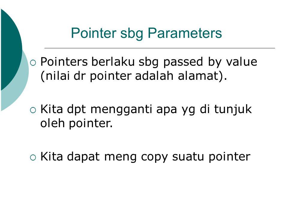 Pointer sbg Parameters