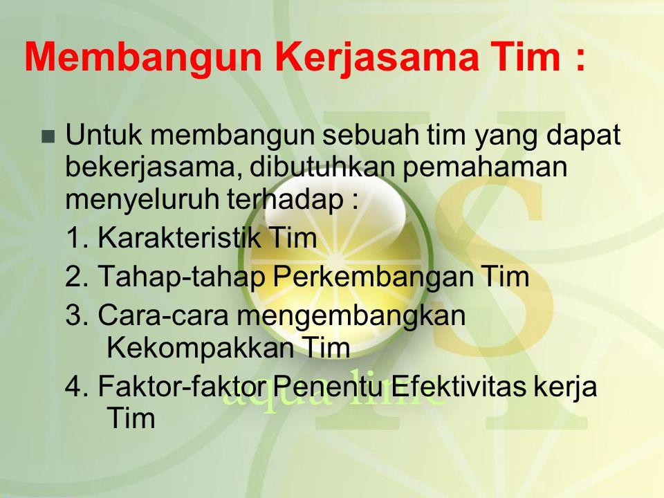 Membangun Kerjasama Tim :