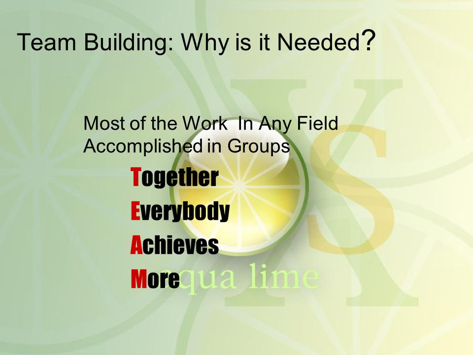 Team Building: Why is it Needed