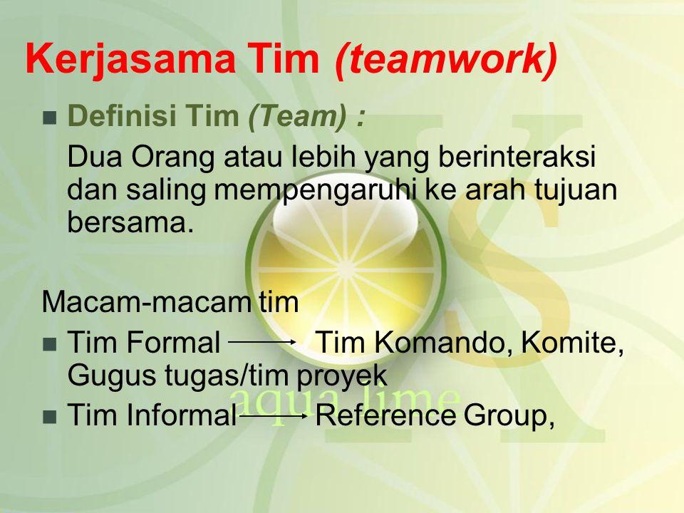 Kerjasama Tim (teamwork)