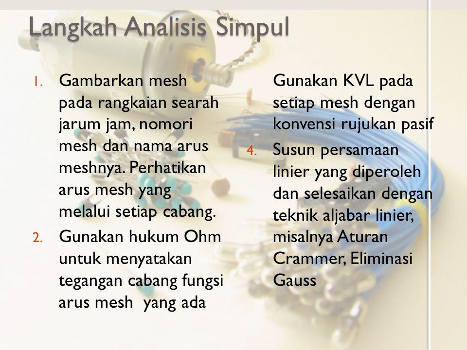 Langkah Analisis Simpul