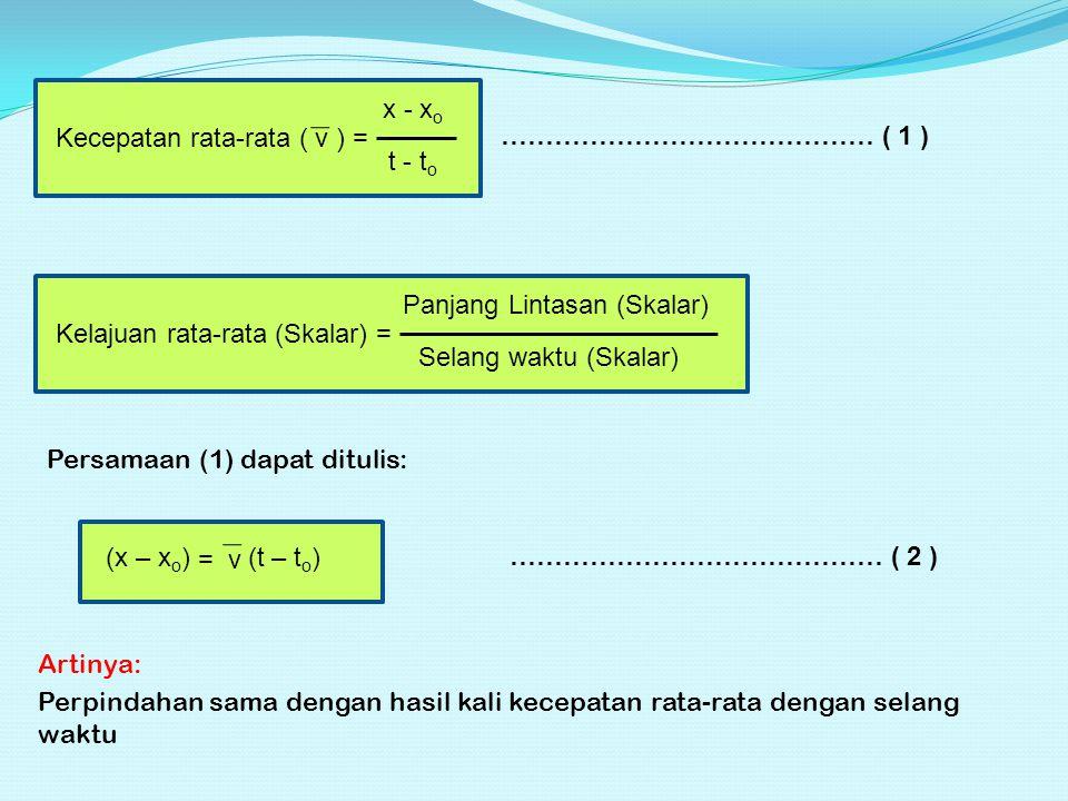 Kecepatan rata-rata ( v ) =