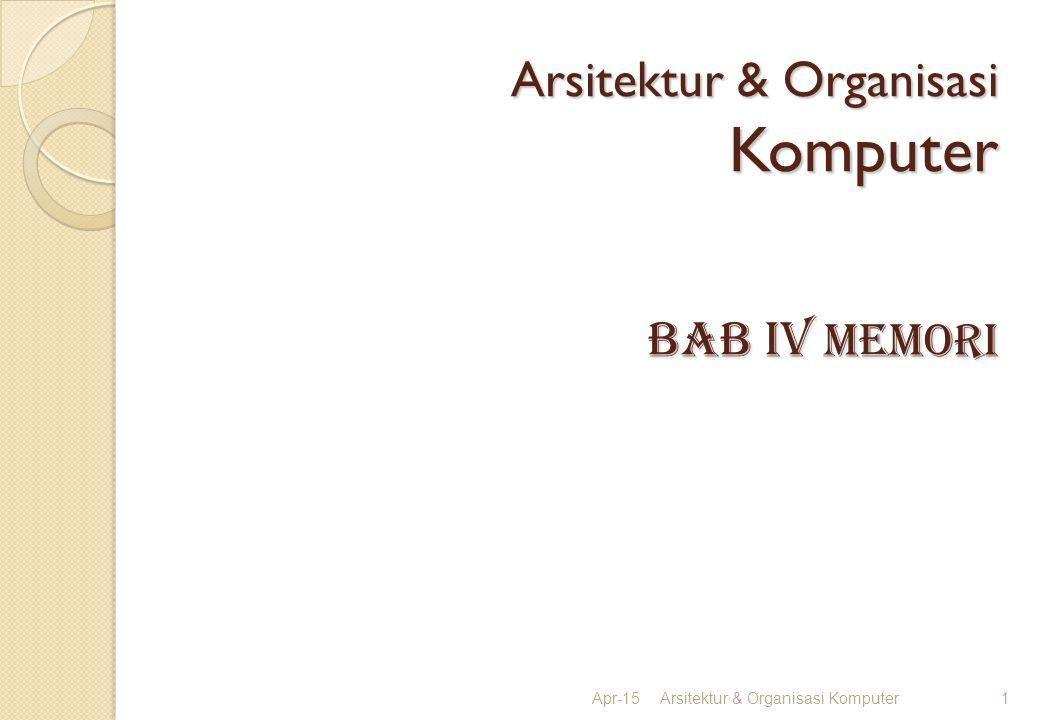 Arsitektur & Organisasi Komputer BAB iv memori