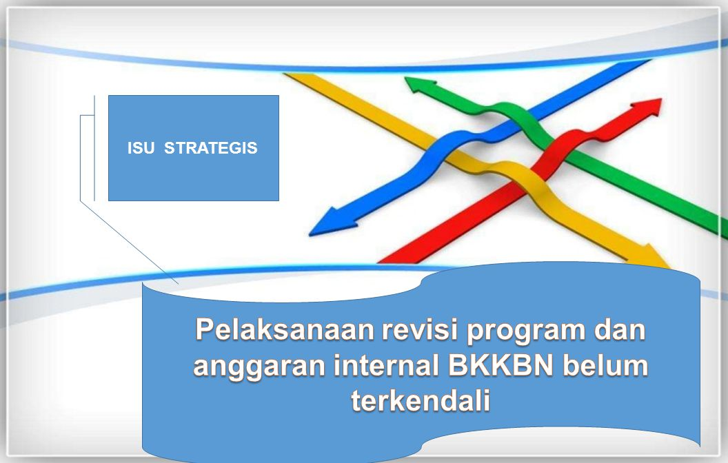 ISU STRATEGIS Pelaksanaan revisi program dan anggaran internal BKKBN belum terkendali