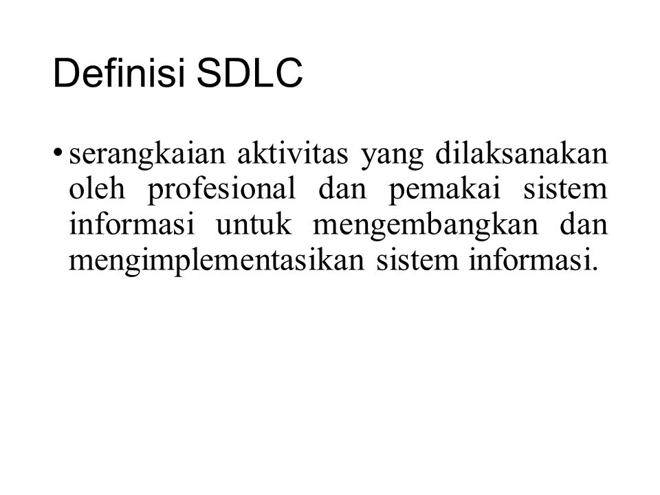 Definisi SDLC