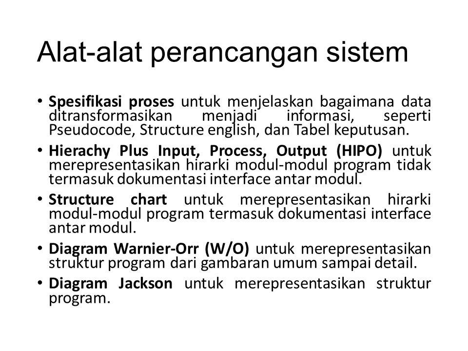 Alat-alat perancangan sistem