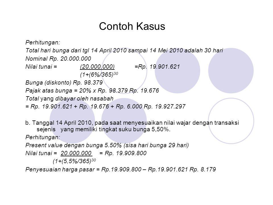 Contoh Kasus Perhitungan: