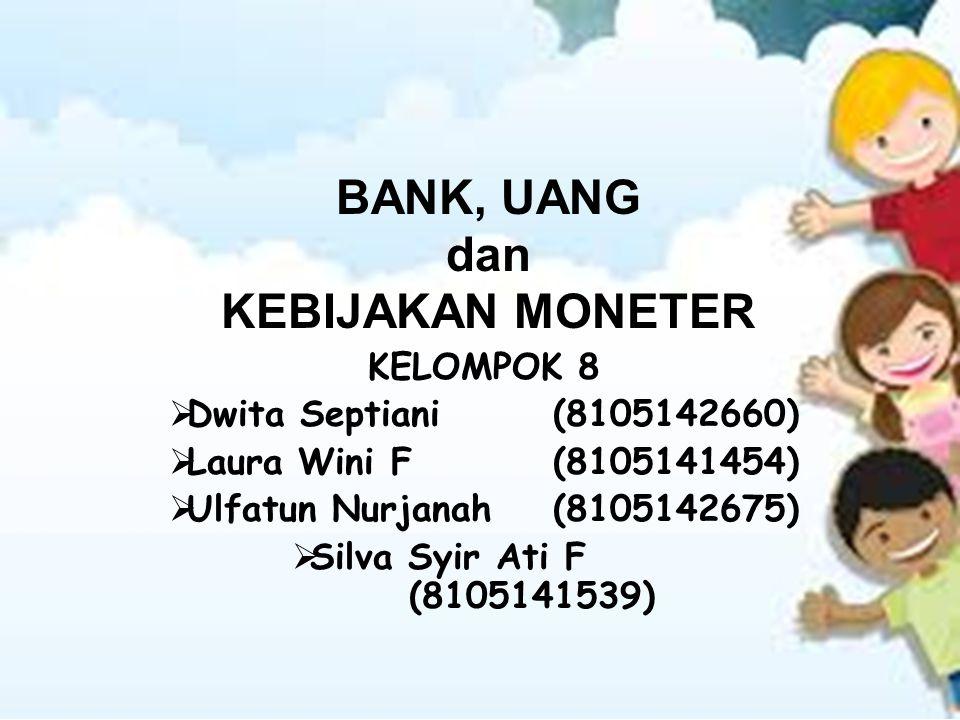 BANK, UANG dan KEBIJAKAN MONETER