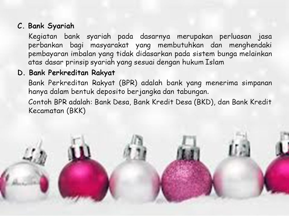 C. Bank Syariah