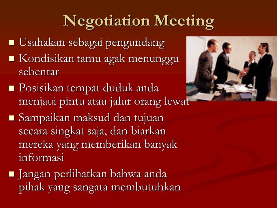 Negotiation Meeting Usahakan sebagai pengundang