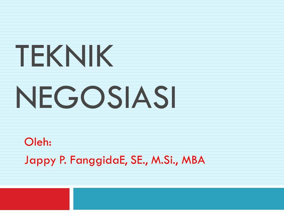 Oleh: Jappy P. FanggidaE, SE., M.Si., MBA