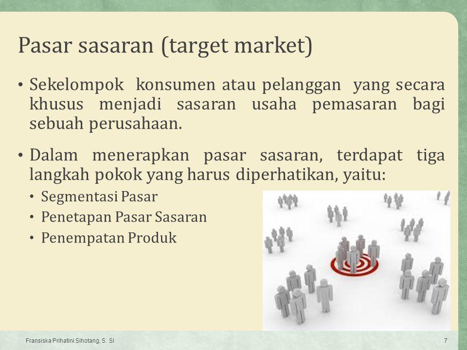 Pasar sasaran (target market)