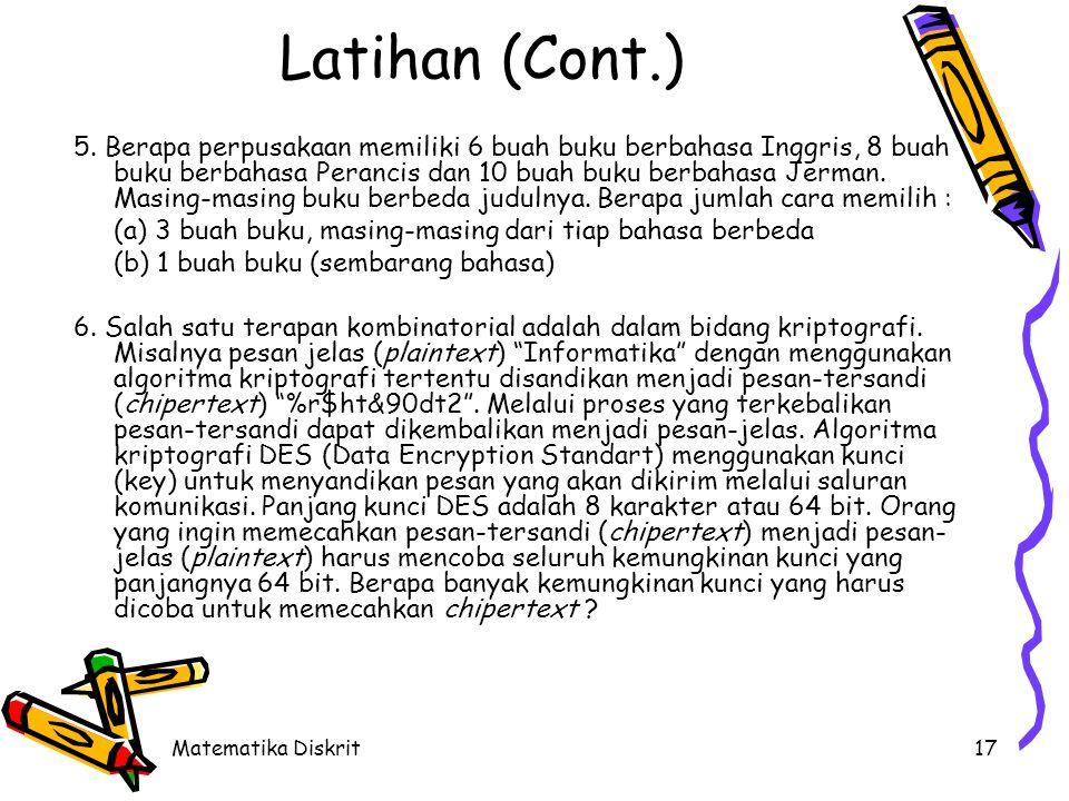 Latihan (Cont.)