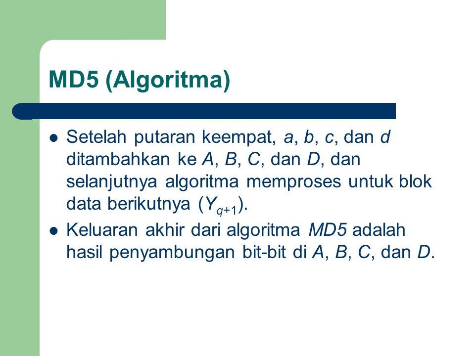MD5 (Algoritma)