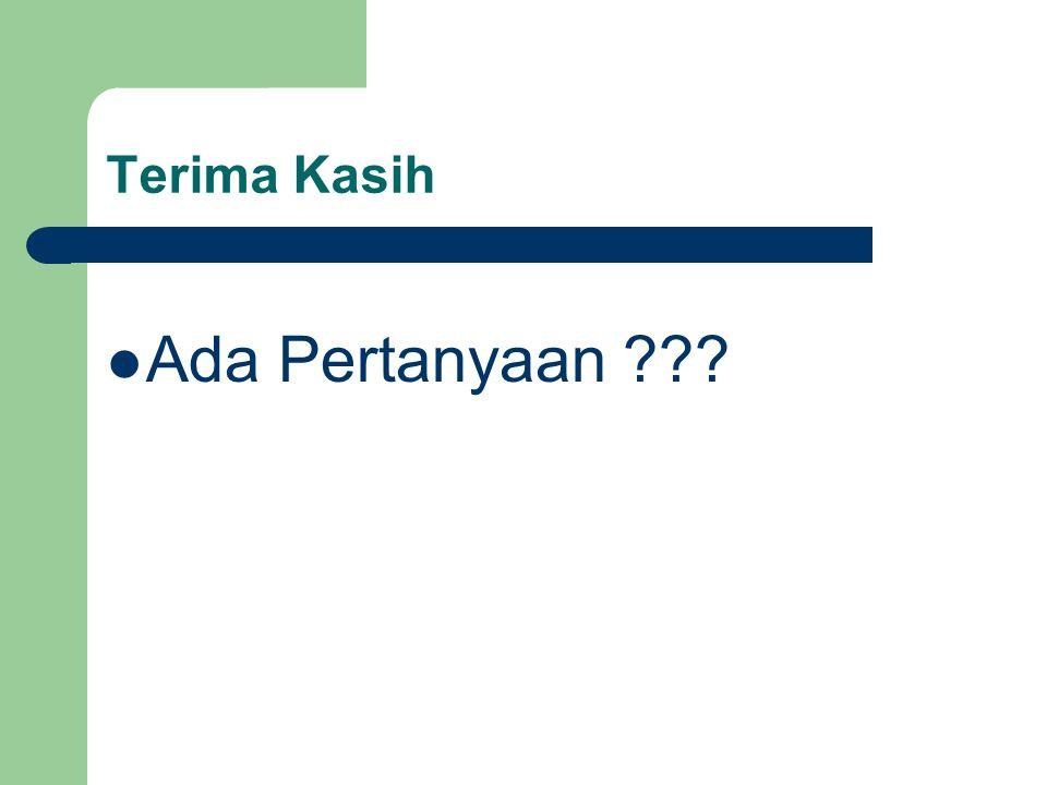 Terima Kasih Ada Pertanyaan