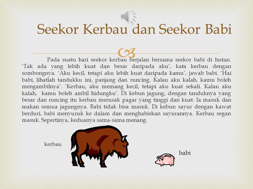 Seekor Kerbau dan Seekor Babi