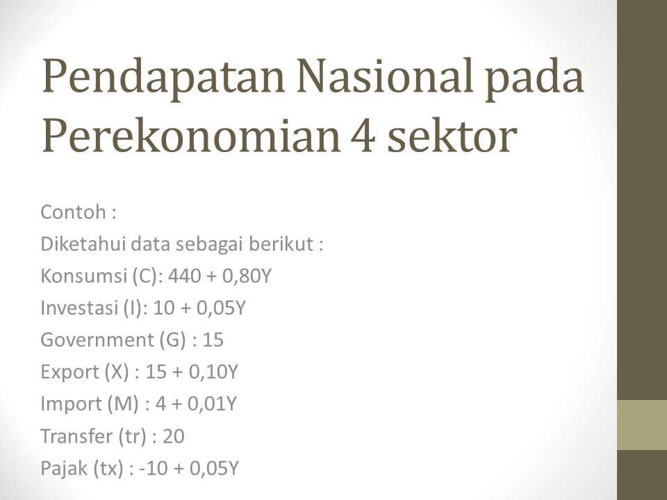 Pendapatan Nasional pada Perekonomian 4 sektor