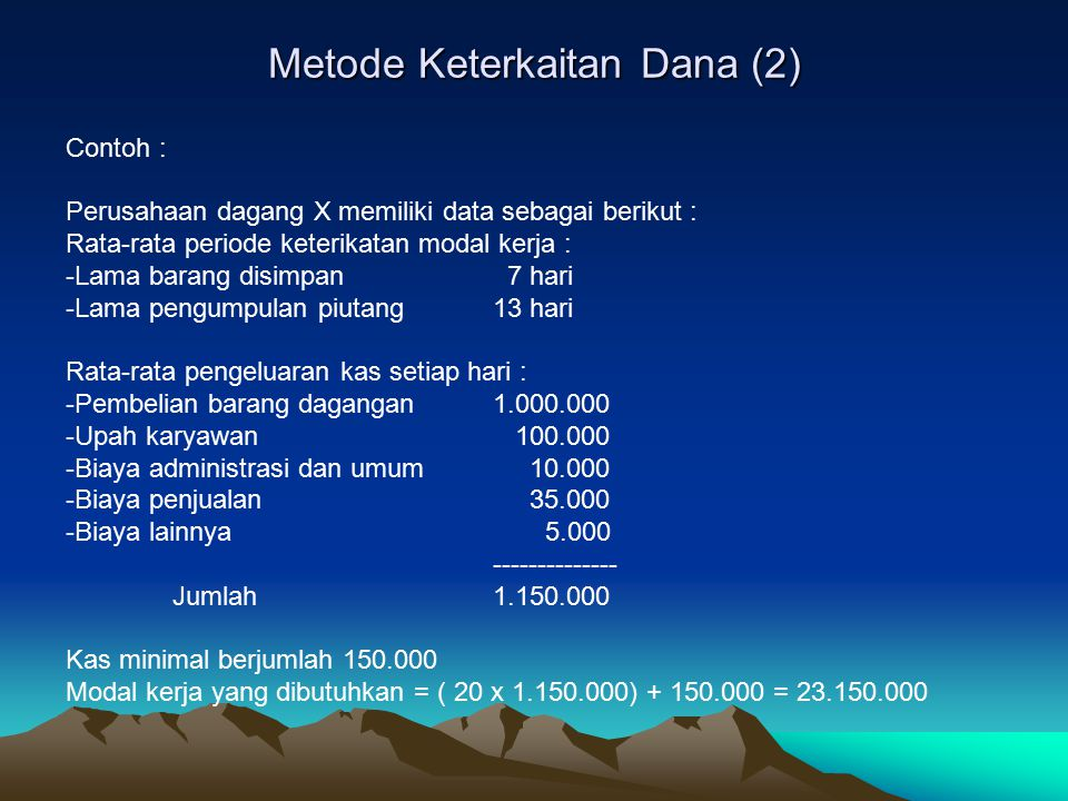 Metode Keterkaitan Dana (2)