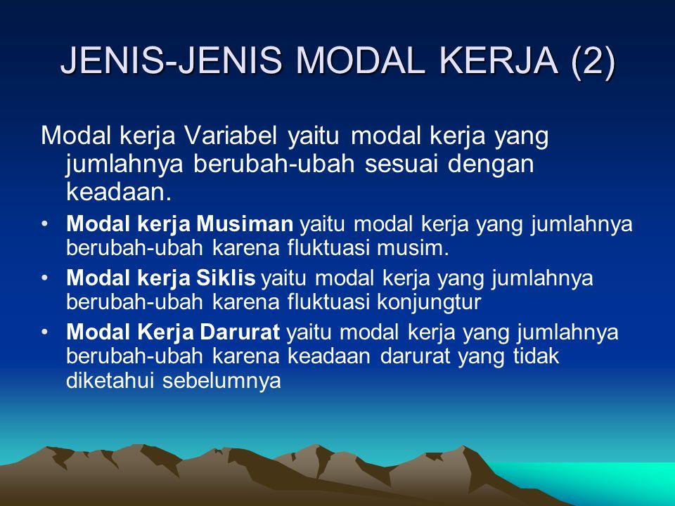 JENIS-JENIS MODAL KERJA (2)