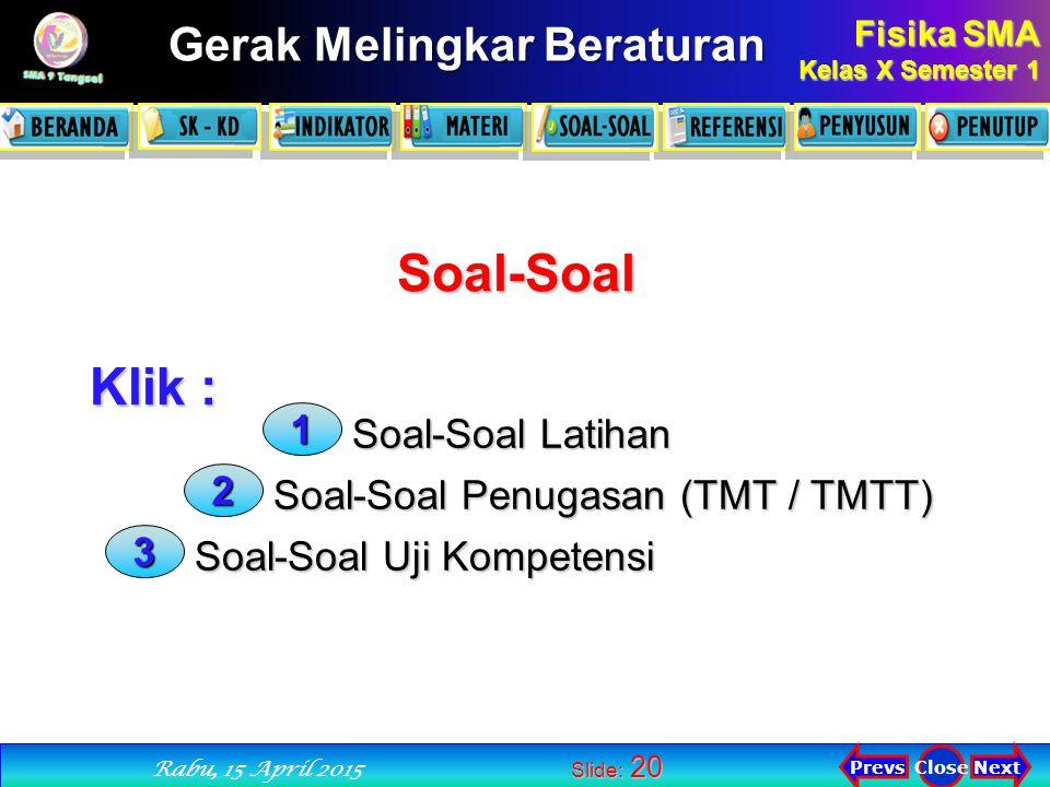 Soal-Soal Klik : 1 Soal-Soal Latihan 2